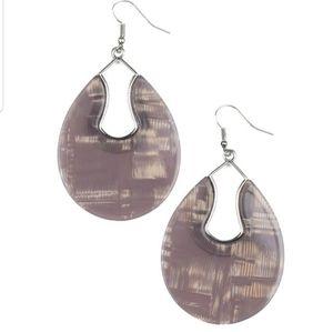 Pool Hopper silver acrylic earrings